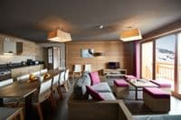 Alpine Charms - Les Menuires Style Apartment, Reberty 2000, 4 bedrooms, sleeps 8/10, Ski in / ski out in Three Valleys, France. Self Catered skiing apartment with spa facilities - access to sauna and hamman, free wifi and parking.
